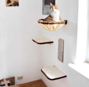 arbre à chat accroché au mur