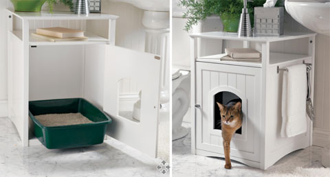 litière chat d'appartement